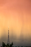 Estação transmissora no nascer do sol Imagem de Stock Royalty Free