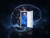 Estar aberto para explorar o segredo do cérebro humano Imagens de Stock Royalty Free
