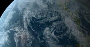 Estar en órbita 360 grados sobre el mundo 4K libre illustration