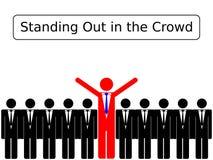 Estar para fora na multidão Imagem de Stock