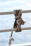Estar Stopper Knot. Type of knot use on a cruise ship to security items Royalty Free Stock Photo