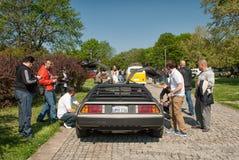 Estares abertos da opinião traseira de DeLorean DMC-12 Imagem de Stock Royalty Free