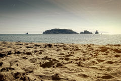 Estartit beach. Girona, Spain Stock Image