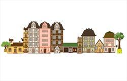 Estas casas podían estar dondequiera en Europa y alcanzar Fotos de archivo libres de regalías