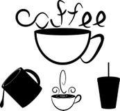 Copos de café ilustração royalty free