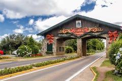 Estasi il portico della città di Gramado in Rio Grande do Sul, Brasile immagini stock