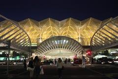 Estasi il portone del centro commerciale di Vasco da Gama alla notte Fotografie Stock