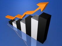 Estatística de aumentação Foto de Stock Royalty Free
