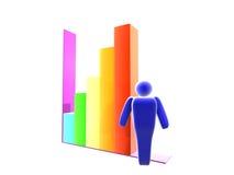estatística de negócio 3D ilustração stock