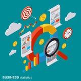 Estatística de negócio, analítica, conceito do vetor da auditoria financeira Foto de Stock Royalty Free