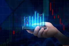Estatística e conceito do mercado Fotos de Stock