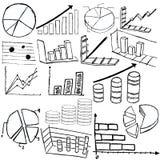 A estatística representa graficamente o esboço Imagens de Stock Royalty Free