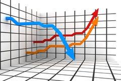 estatísticas 3d Imagem de Stock Royalty Free