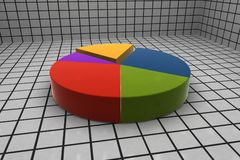 estatísticas 3d Fotografia de Stock Royalty Free