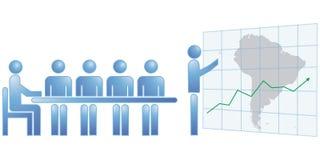 Estatísticas de Ámérica do Sul Imagem de Stock Royalty Free