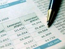Estatísticas de emprego Imagem de Stock