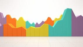 Estatísticas de negócio coloridas Imagens de Stock Royalty Free