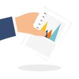 Estatísticas disponível, projeto do vetor Fotos de Stock