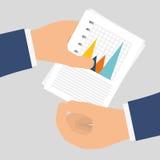 Estatísticas disponível, projeto do vetor Imagens de Stock