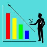 Estatísticas do crescimento Fotografia de Stock