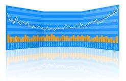 Estatísticas do mercado de valores de acção Imagens de Stock