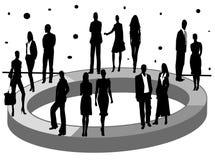 Estatísticas do negócio e da economia Ilustração Stock