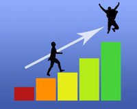 Estatísticas do vetor Fotografia de Stock