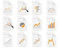 Estatísticas e ícones do arquivo do analytics ilustração do vetor