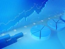 Estatísticas, finança, troca conservada em estoque e contabilidade Imagens de Stock Royalty Free