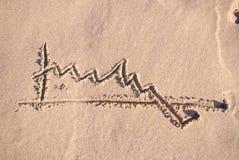 Estatísticas na areia Fotos de Stock