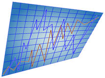 Estatísticas na linha dois Fotos de Stock Royalty Free