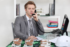 Estate agency office Stock Image
