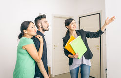 Estate agent close a contract Stock Photography