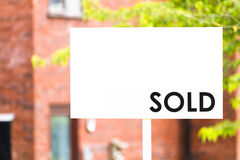 Estate agent house sold sign Royalty Free Stock Photography