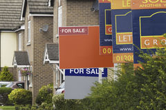 Estate Agent Signs Stock Image