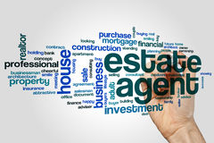 Estate agent word cloud. Concept royalty free stock images