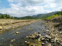 Estate al fiume di Cikawung Immagini Stock Libere da Diritti