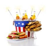 Estate: Alimento festivo di estate di festa Immagine Stock Libera da Diritti