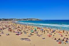 Estate alla spiaggia di Bondi, Sydney, Australia Fotografie Stock