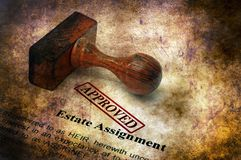 Estate assignment - approved grunge concept royalty free stock images