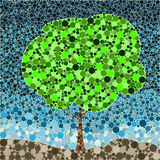 Estate astratta dell'albero di fondamento della foglia del modello della natura di eco Fotografie Stock