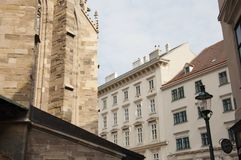 Estate buildings of Vienna city. Austria on a sunny spring day Stock Images