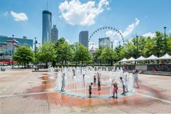 Estate centennale Atlanta della fontana del parco olimpico Immagini Stock Libere da Diritti