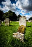 Estate church with graves stones Royalty Free Stock Images