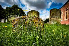 Estate church with graves stones Stock Images