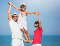 Estate, concetto 'nucleo familiare' fotografia stock libera da diritti