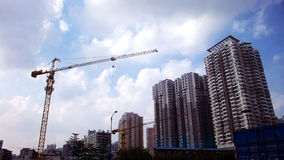 Estate construction. In guangzhou china Royalty Free Stock Photo