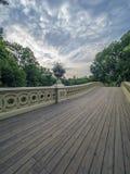 Estate del Central Park del ponte dell'arco Immagine Stock
