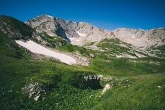 Estate del cielo blu di Rocky Mountains Landscape Immagini Stock Libere da Diritti