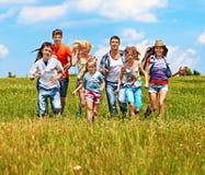 Estate della gente del gruppo all'aperto Fotografia Stock